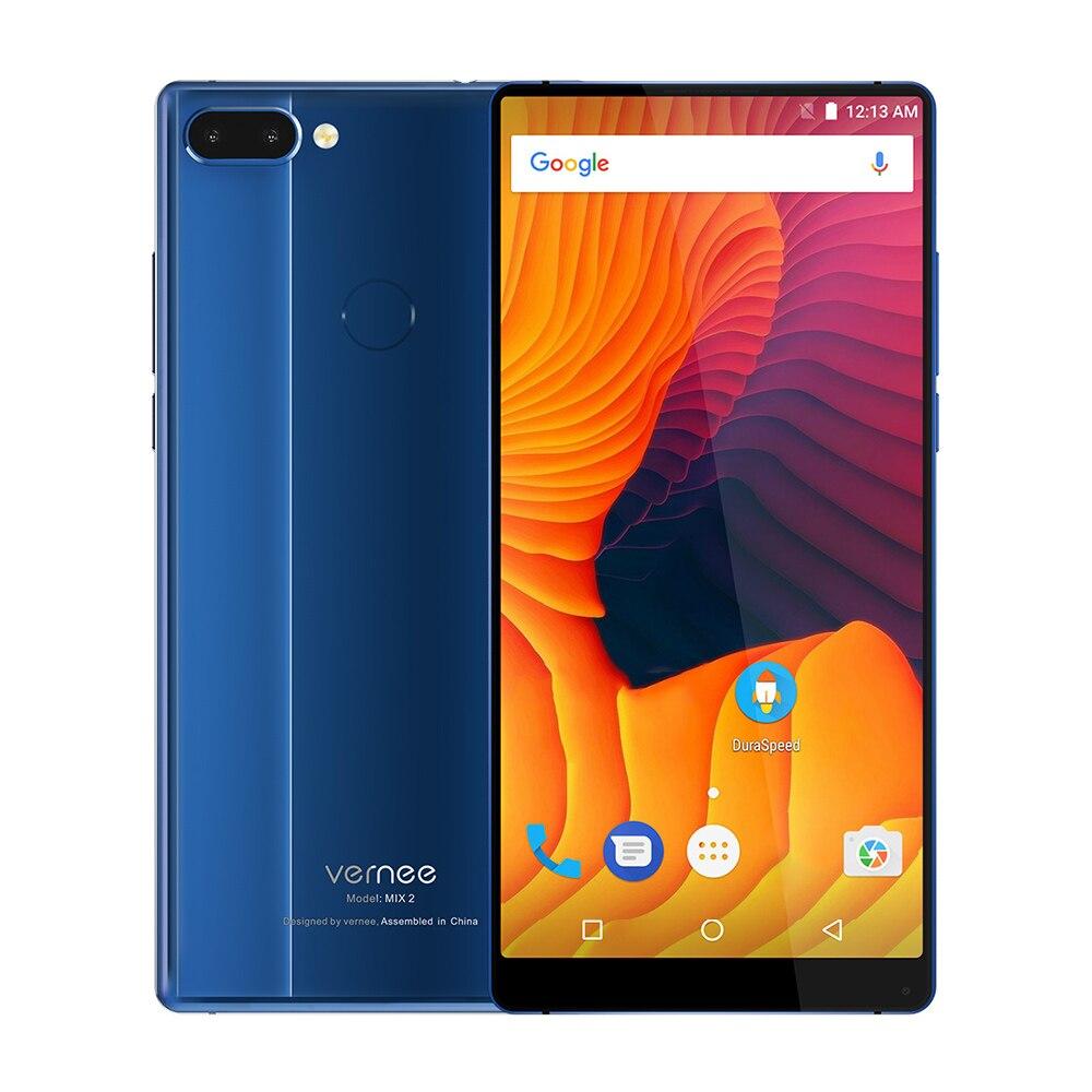 Vernee Mix 2 4g 6,0 zoll Android 7.0 Octa Core 2,5 ghz 4 gb RAM 64 gb ROM 13.0MP + 5.0MP Dual Hinten Kameras Fingerprint Scanner MIX2