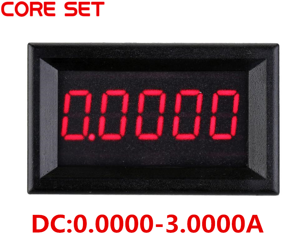 0.36 5 Digits Ammeter 0-3.0000A DC Current Panel Meter Ampere Panel Meter Red LED Electric Current Tester Gauge high precision accuracy 0 56 5 digits dc ammeter digital amp meter panel meter led current tester gauge monitor
