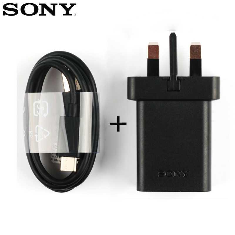 Oryginalna adaptacyjna szybka ładowarka UCH12 dla Sony Xperia L1 XA1 Plus Ultra X kompaktowy XZ2 XA2 XZs XA1 Ultra XZ Premium type-c kabel