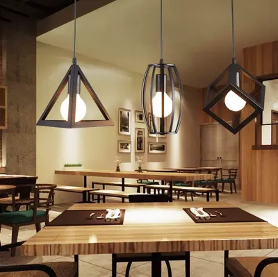Loft Warehouse vintage pendant lights iron lamp shads Decoration Black for bar coffee dining room kitchen light E27 holderLoft Warehouse vintage pendant lights iron lamp shads Decoration Black for bar coffee dining room kitchen light E27 holder
