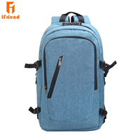 Ifriend Unisex Business Anti Theft 17 Inch Fashion Notebook Laptop Backpack Bag with USB Headphones Port For Women And Men