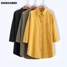 Big Size Womens Shirts 2019 Autumn Winter New Korean Style Pure Color Long Sleeve Shirt Large Casual Female Blouses