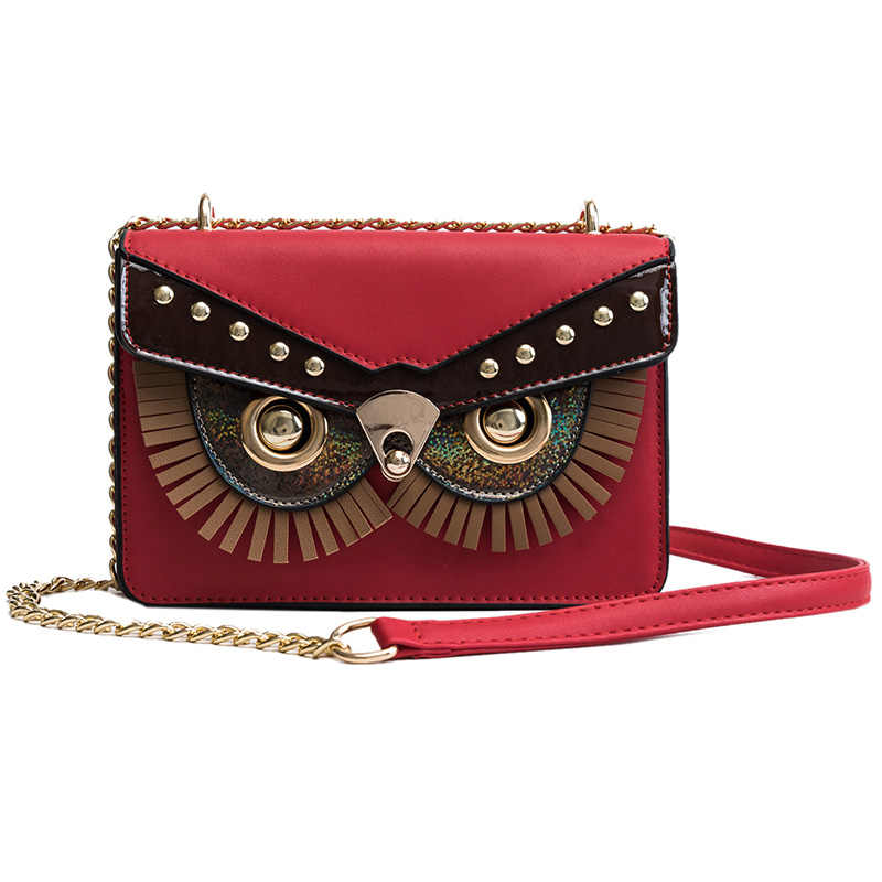 2a372d72b Famous Brand Trendy Owl Designer Flap Bag Female Handbags Party Purse  Women's Crossbody Messenger Bags Sac