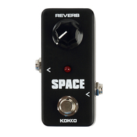 KOKKO FRB2 Mini SPACE Reverb Guitar Effect Pedal Black Portable Guitar Effects Pedal Stompbox Guitar Parts