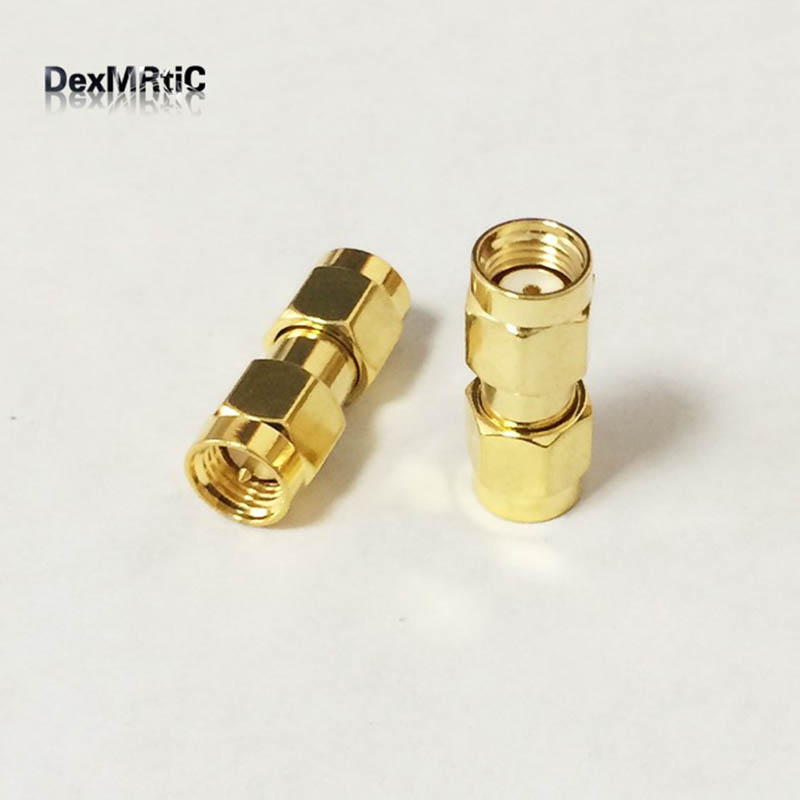 1PC SMA male to RP SMA male plug female pin RF coax adapter convertor connector straight wholesale price 50pcs sma mmcx adapter mmcx male plug to sma plug male straight rf adapters