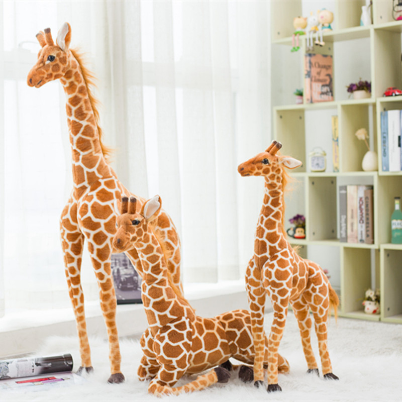 Huge Real Life Realistic Giraffe Plush Toy Cute Stuffed Animal Doll Soft Simulation Giraffe Doll High Quality Birthday Gift Kid