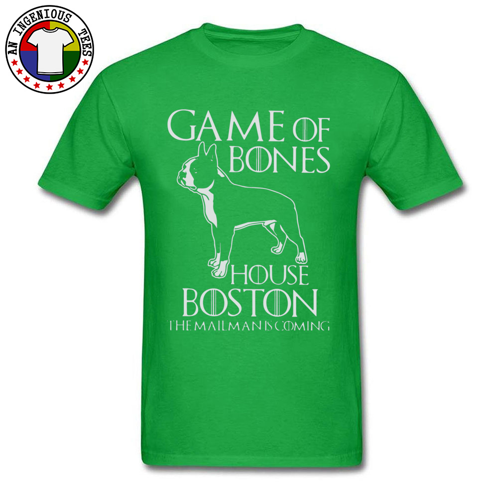 Game of bones house bosto24521 Tees Brand O Neck Slim Fit Short Sleeve 100% Cotton Fabric Mens Top T-shirts Unique Tops Tees Game of bones house bosto24521 green