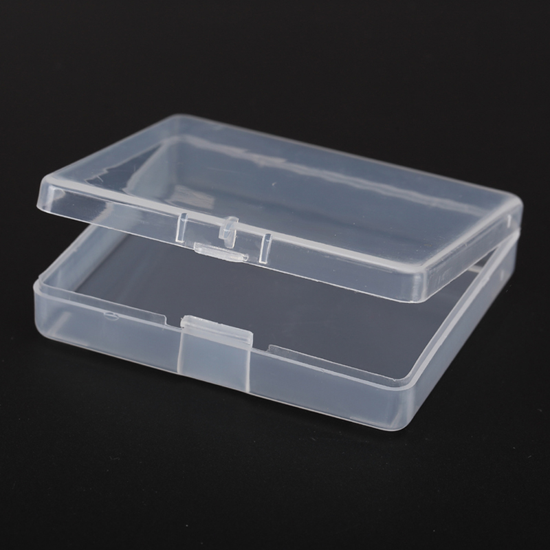 Thick Transpa Plastic Small Square Bo Packaging Storage Box With Lid For Jewelry Accessories Finishing In Bins From Home