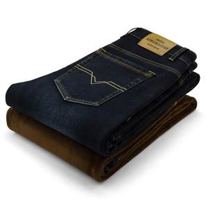 Image 4 - AIRGRACIAS hommes hiver épaissir polaire Jean Stretch Denim chaud Jean pour hommes marque de créateurs pantalons longs Jean noir/bleu 28 42