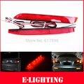 Len LEVOU Choques Refletor Traseiro vermelho adicionar na Cauda Brake Parar Luz apto para Toyota Reiz Camry Sienna Venza Matrix GX470 Lexus Is F