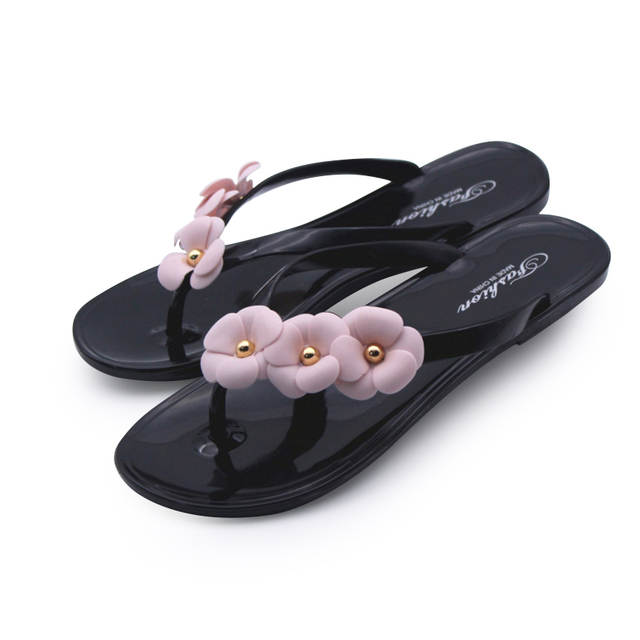 b0a3f9f4c452f Online Shop Cresfimix women cute transparent crystal jelly sandals shoes  lady cool pink beach flip flops female flower casual slippers