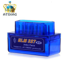 Super Mini Elm327 Bluetooth OBD2 2 V2.1 Elm 327 V 2.1 OBD Scanner de Diagnóstico Do Carro-Ferramenta Elm-327 adaptador OBDII Auto Ferramenta de Diagnóstico(China)