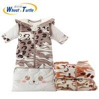 Mãe Crianças Fundamento Do Bebê Sacos de Dormir saco de Dormir Para Recém-nascidos Gigoteuse Polar Saco de Dormir Romper Infantis Roupas de Manga Longa