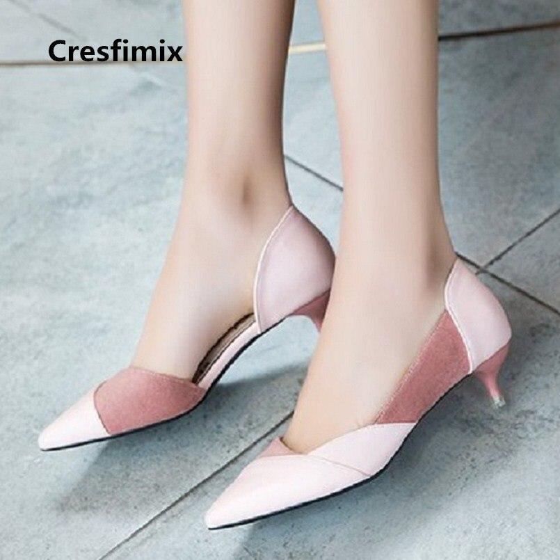 Femmes Talons Hauts Femmes mode rose printemps et été 5 cm chaussures à Talons Hauts dame décontracté confortable noir chaussures à Talons Hauts E2698