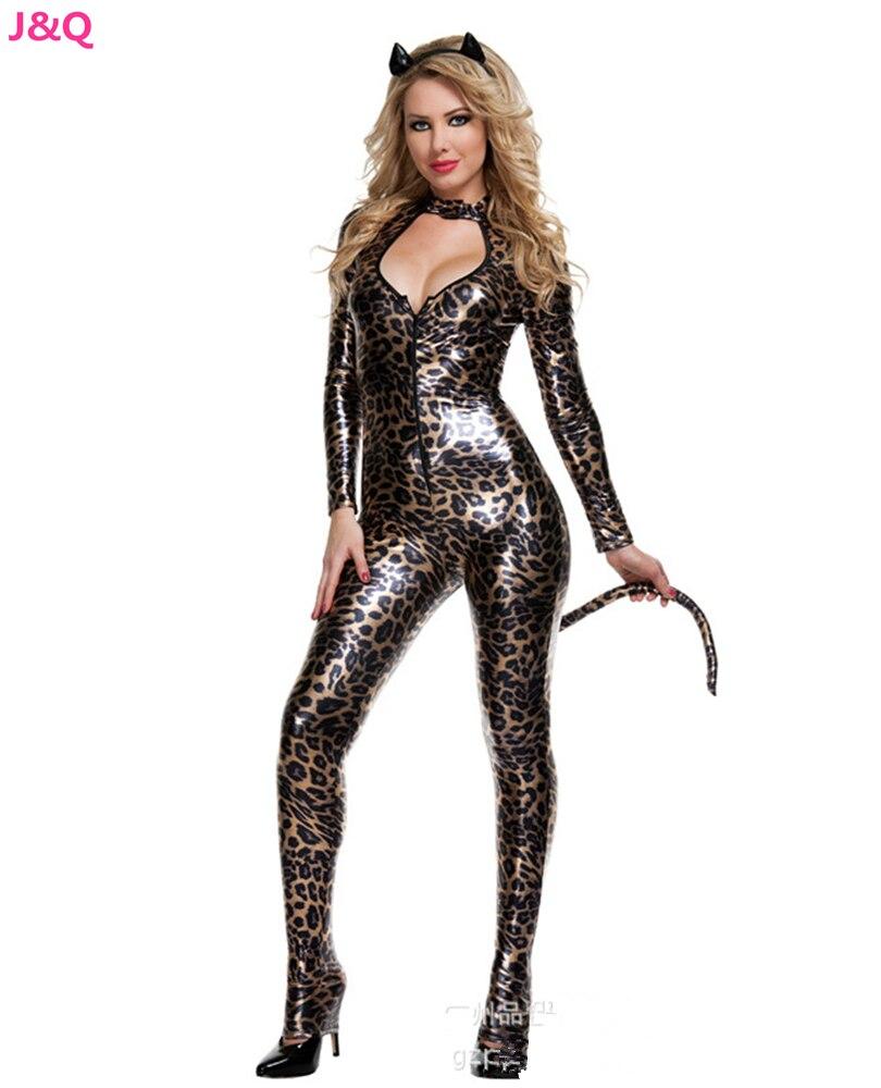 Леопардовый костюм латекс фото 279-503
