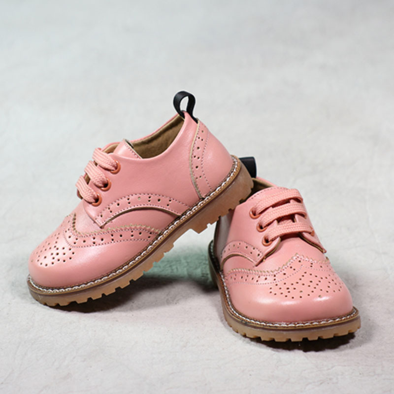 MAGGIES WALKER Children Boys Girls Shoes Kids Oxford Leather Shoes Fashion Brand Genuine Leather Pink Girls Party Shoes