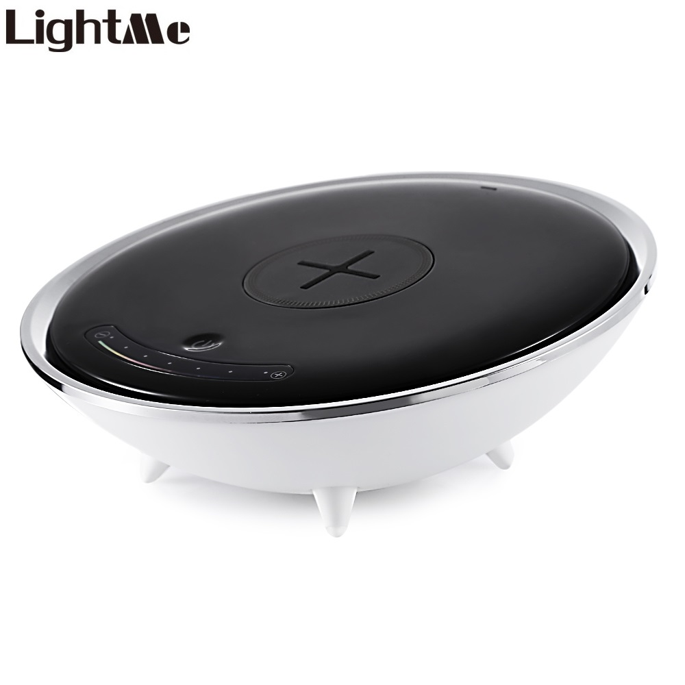 Lightme Touch Sensor Wireless Charger Colorful LED Night Light Bedside Lamp 5W AC 85 265V for Smart Phone Devices Original
