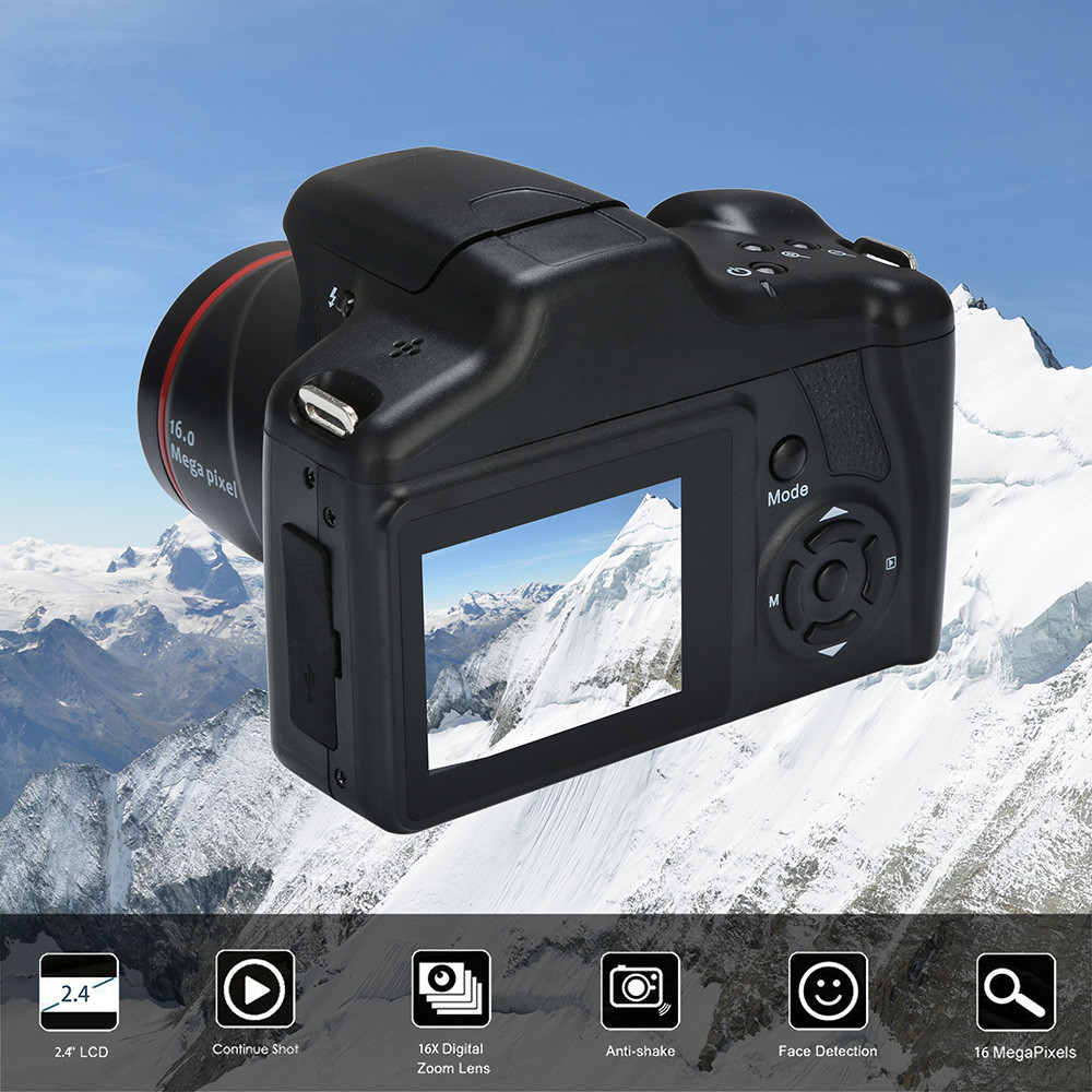 Câmara de vídeo HD 1080 p Câmera Digital Portátil 16X Zoom Digital HD 1080 p Câmera AU.17