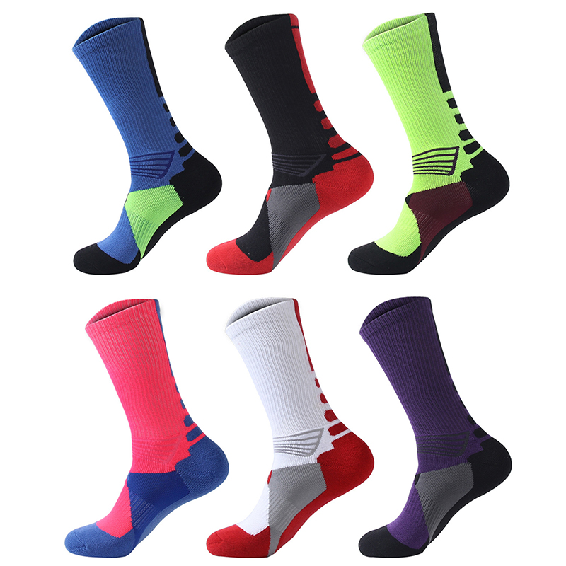 Sport Socks Basketball Cycling Sweat Absorbing Anti Slip Men Women Running Outdoor Football Soccer Thick Hiking Athletic Socks