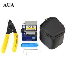 Free shipping Fiber Optic Tool 3 in 1 FTTH Splice fiber optic tool kits Fibre stripping +FC-6S fiber cleaver