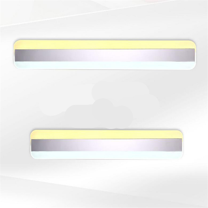 Modern Minimalism Waterproof Anti-fog Acryl Stainless Steel Led Mirror Light for Bathroom Living Room Wall Lamp 41/50cm 1385 modern minimalist waterproof antifog aluminum acryl long led mirror light for bathroom cabinet aisle wall lamp 35 48 61cm 1134