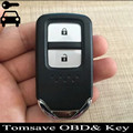 For New Honda FIT VEZEL XRV Original Size 2 Buttons Smart Remote Key 433mhz with ID47 chip Full Remote Key