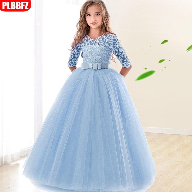High-end elegance children party   dress     girl   wedding   dress   long sleeve   girl   first communion   dress   Princess ball gown for kids