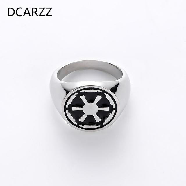 30dff4f02c4c72 Best Sellers Star Wars Empire Ring Silver Black Enamel Ring for Men  Collections Engagement Ring Gift Trendy Jewelry Mens Rings