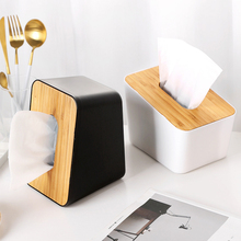 ONEISALL Tissue Box Plasitc Container Napkin Tissue Holder Paper Brief Kitchen Storage Fashion Tissue Holder Case for Office цена и фото