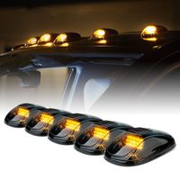 New Smoked 5 Pcs 12 LED Vehicle Car Cab Roof Running Marker Lights for Truck SUV Off Road Set Bulb Lamp Car Styling