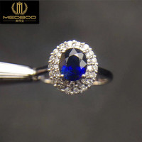 工場卸売新しいスタイル宝石用原石リングファッションハンドジュエリーウェディングリング18 kゴールド天然サファイアリング付き