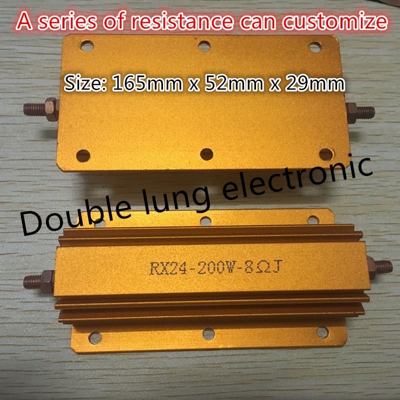 RX24-200W 1K 1.5K 2K 2.2K 2.5K 2.7K <font><b>3K</b></font> 5K 200W Watt Automobile Power Metal Shell Case Wirewound <font><b>Resistor</b></font> 1KRJ 1000R <font><b>Ohm</b></font> 5% 200W image