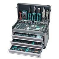 Pro'skit 124PCS 1/2.1/4 Driver Socket Hand Tool Set Professional Electrician Car Vehicle Tool Kit