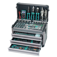 Pro'skit 124PCS 1/2.1/4 Driver Socket Hand Tool Set Professional Electrician Car Vehicle Tool Kit