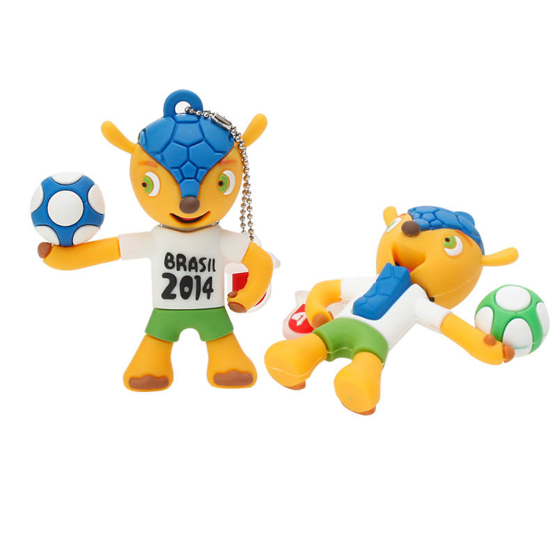 Image 3 - USB Flash Drive 32GB Brazil World Cup Mascot Cartoon Pen Drive 128GB 64GB 16GB 8GB 4G Pendrive Best Gift Usb Stick Free Shipping-in USB Flash Drives from Computer & Office
