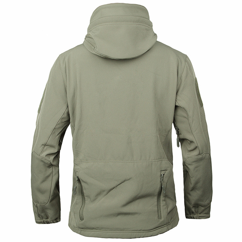 Image 3 - Army Camouflage Coat Military Jacket Waterproof Windbreaker Raincoat Hunt Clothes Army Men Outerwear Jackets And Coat soft shell-in Jackets from Men's Clothing