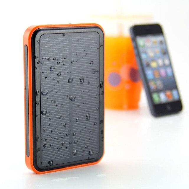 Портативный Солнечный Банк силы 10000 мАч bateria externa portatil Dual USB LED Внешнее Зарядное Устройство Powerbank для всех телефонов