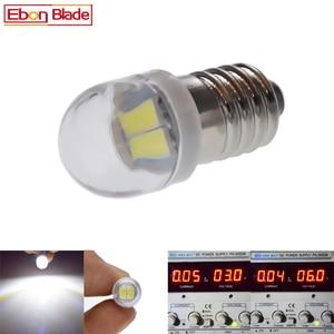 Image 2 - Pair E10 1447 LED Flashlight Bulb Lamp 3V 6V Led Bulb Replacement Flashlight Torch bulb 3 Volt 6 Volt Screw bulb Xenon White