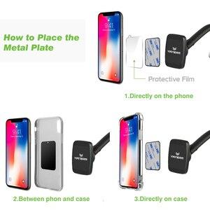 Image 4 - Yianerm mıknatıslı telefon tutucu Telefon Araba Manyetik vantuz tutucu Standı iPhone X Xs Max 8 Artı Samsung S9 Artı GPS