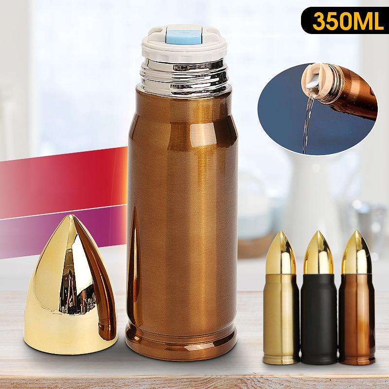 350 ml Armee fans Tragbare Edelstahl Kugel Vakuum Glaskolben Reise Wasser Flasche Kugel Isoliert