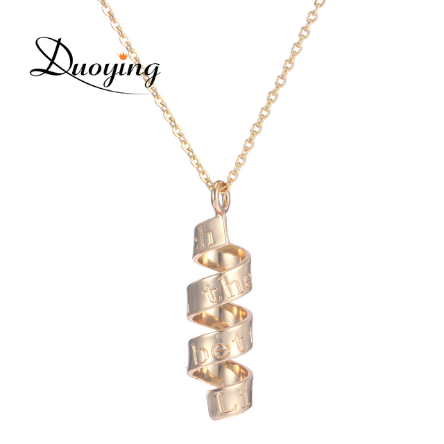 Duoying spiral pendants necklace for etsy personalized custom names duoying spiral pendants necklace for etsy personalized custom names sentences celebrity necklace minimalism graduation necklaces aloadofball