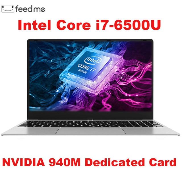 كمبيوتر الألعاب المحمول 15.6 بوصة هيكل معدني إنتل i7 6500U 8GB RAM 512 GB SSD 2G مخصص بطاقة الفيديو دفتر لمكتب الألعاب