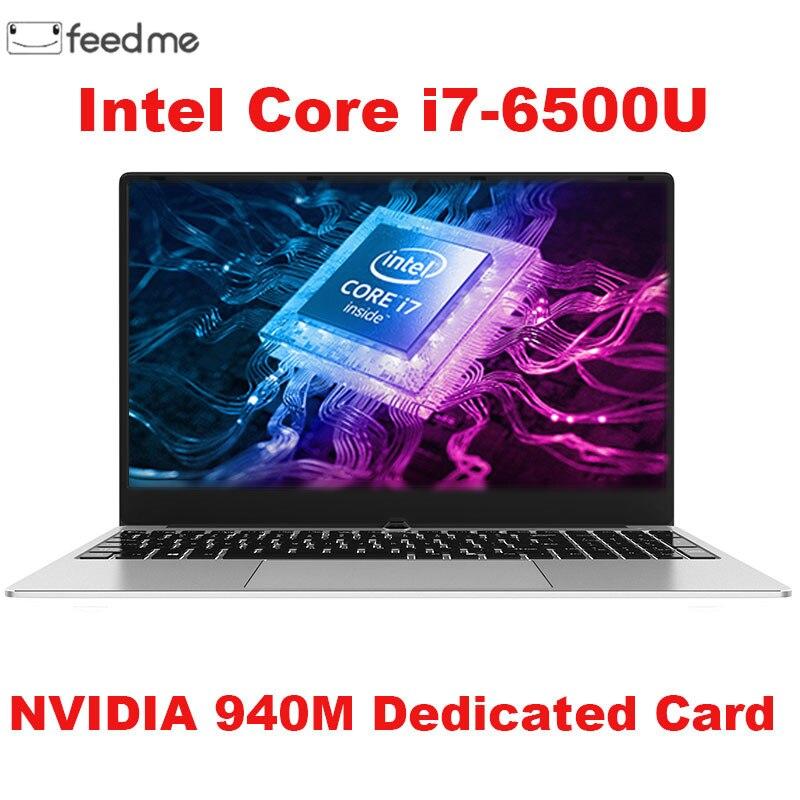 Computador portátil de jogos 15.6 polegada de Metal Corpo Intel i7 6500U 16GB RAM 2G Placa De Vídeo Dedicada Janelas 10 Notebook para o Jogo de Trabalho de Escritório