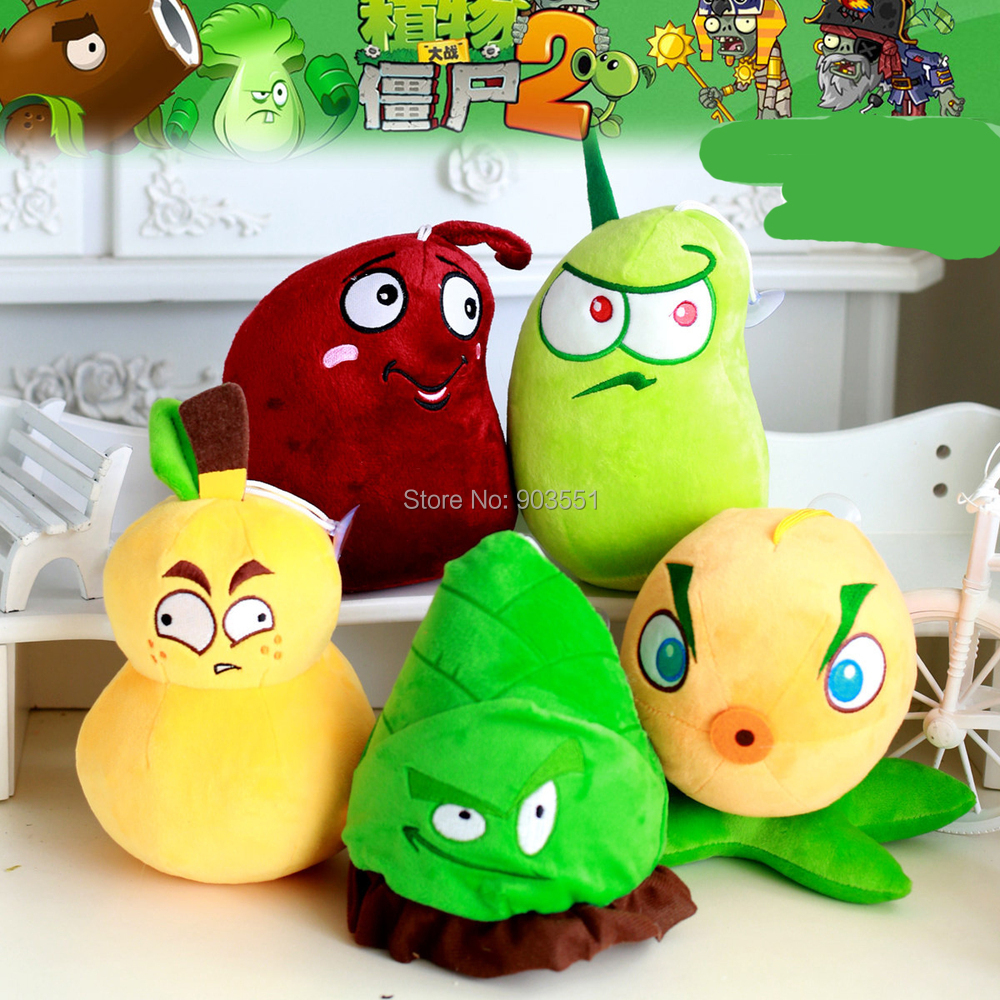 Fruit vs zombies - Aliexpress Com Buy Game Plants Vs Zombies 2 Pvz Fire Gourd Bamboo Shoot Snapdragon Laser Bean Stuffed Soft Plush Kids Toy Free Shippiing From Reliable