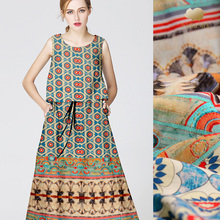 35m  High-End Chinese Heavy Silk Linen Fabric  Wholesale