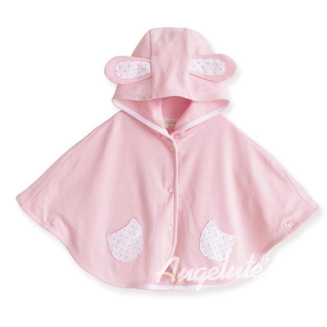 Novo 2016 Moda Bebê Combi Batas Casacos meninos da Menina Outwear Velo Poncho Cabo manto manto Jumpers roupas das Crianças