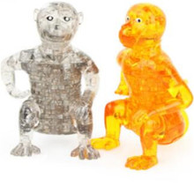 Torvi Cube T 3D Crystal Puzzle Lovely Monkey Shape Puzzles Animla Assembled Model Early Learning Puzzle Toys