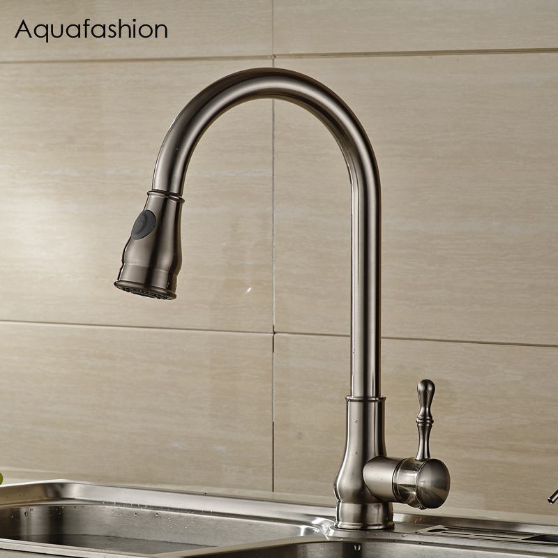 Pull Out Kitchen Faucets Brushed Nickel Sink Mixer Tap 360 degree rotatable torneira cozinha mixer taps pull out kitchen faucets brushed nickel sink mixer tap 360 degree rotatable torneira cozinha mixer taps