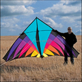Envío gratis Outdoor Fun Sports 3.6 m de Nylon Multicolor triángulo poder Kite Flying buena