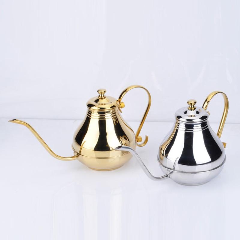 1.5L stainless steel court pot hand coffee pot fine mouth pot long mouth teapot home kitchen tea set coffee utensils ZP3251516